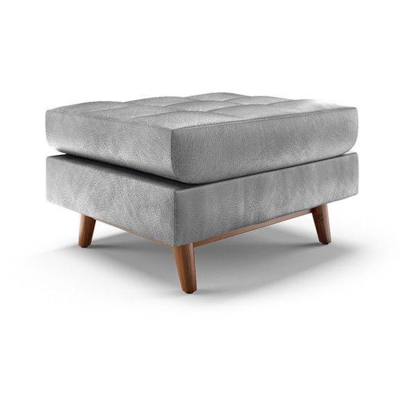 Excellent Joybird Gervin Mid Century Modern Brown Leather Ottoman Creativecarmelina Interior Chair Design Creativecarmelinacom