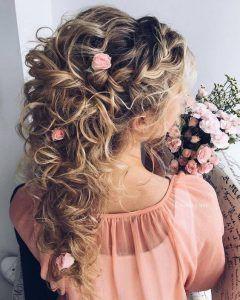 100 schöne Frisuren für Bräute,  #Bräute #Frisuren #für #lockigeFrisurenhalboffen #schöne #loosebraids