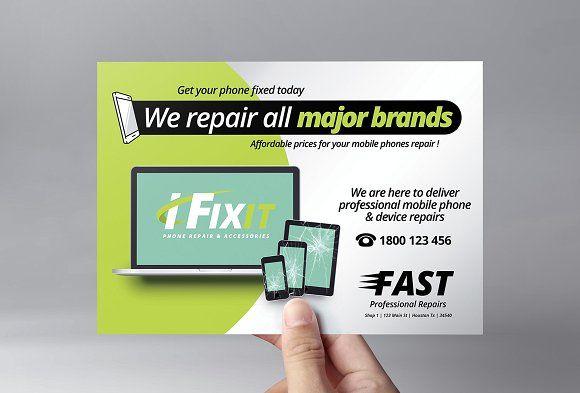 Phone Repair Shop Flyer Template Phone Repair Cell Phone Repair Mobile Phone Repair