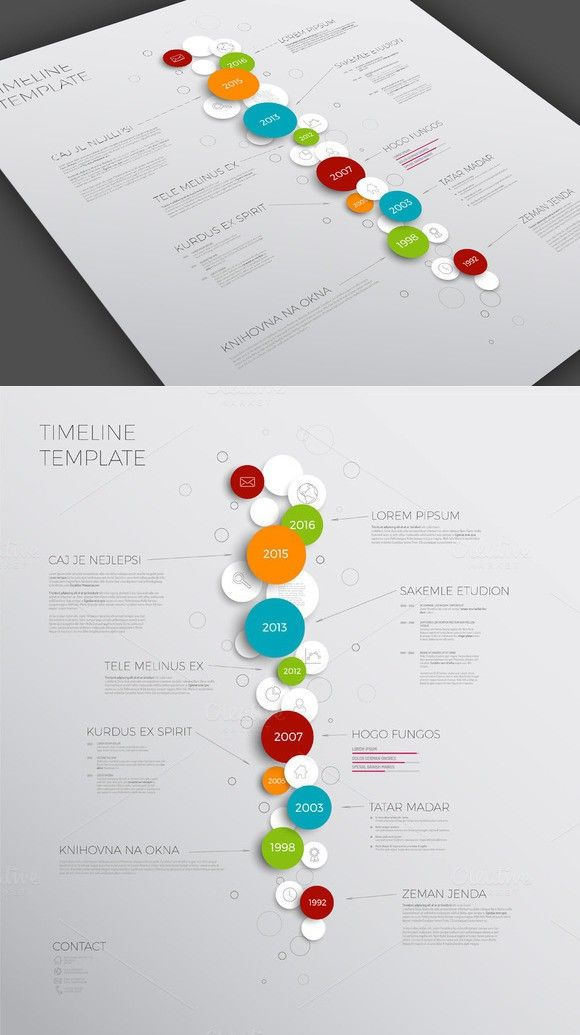 Timeline Template With Bubbles  Presentation Templates
