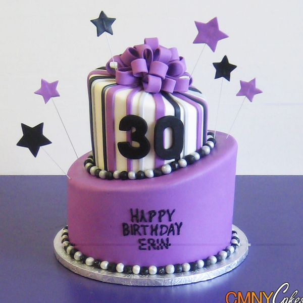 Erin 39 s purple 30th birthday cake no ordinary cake for 30 cake decoration