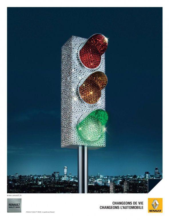 Renault traffic light poster