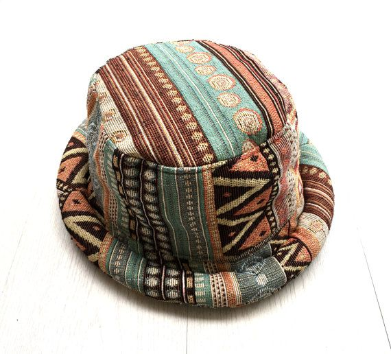 aa33fa2fc4d298 Cute Pastel Hat, Hippie Girls Hat - Tribal inspired, Hipster Boho hat,  Rolled