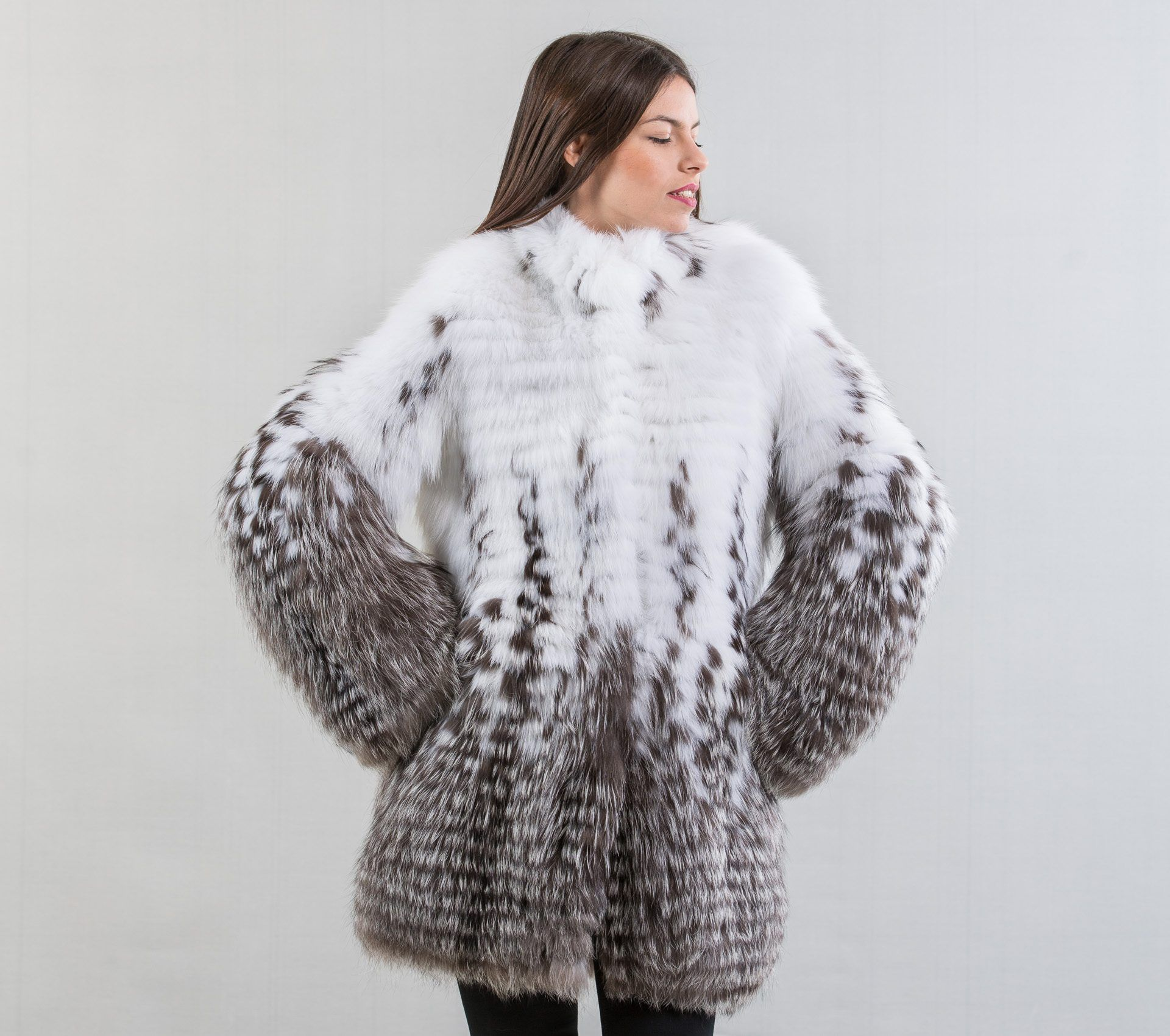 Fox Fur Coat #black #white #fur #jacket #real #fox #realfur ...
