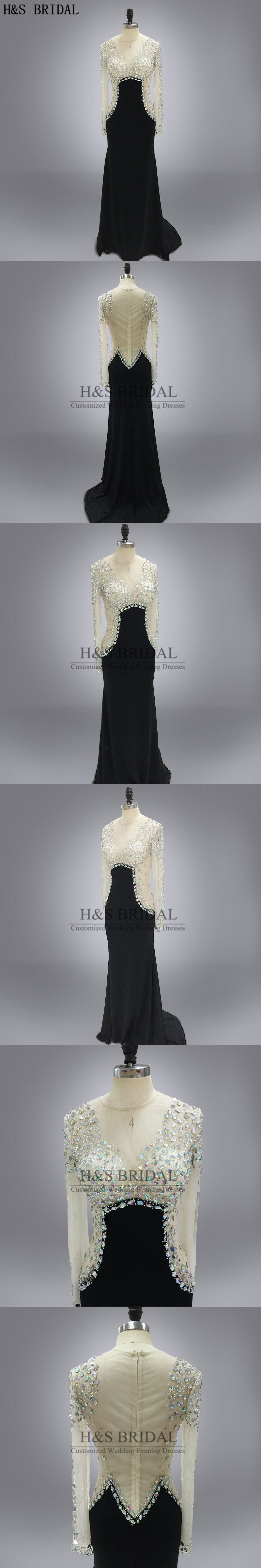 Real photo round neck shinny stone beaded see through prom dress
