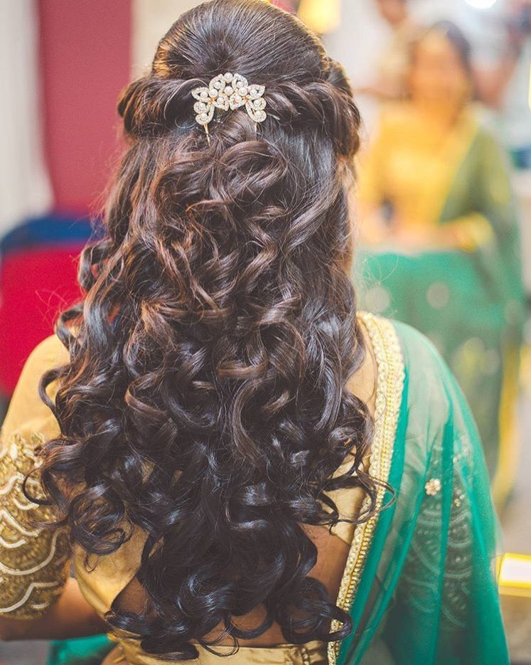 By Aanalsavaliya Orange The Salon Bridesmaid Hairstyles
