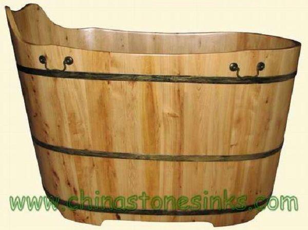 Cedar Wood Bathtub Home Interior Design and Decoration Ideas