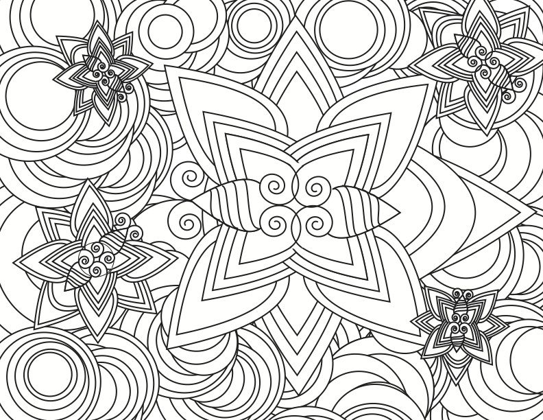 Star Pattern Detailed Coloring Pages Pattern Coloring Pages Abstract Coloring Pages