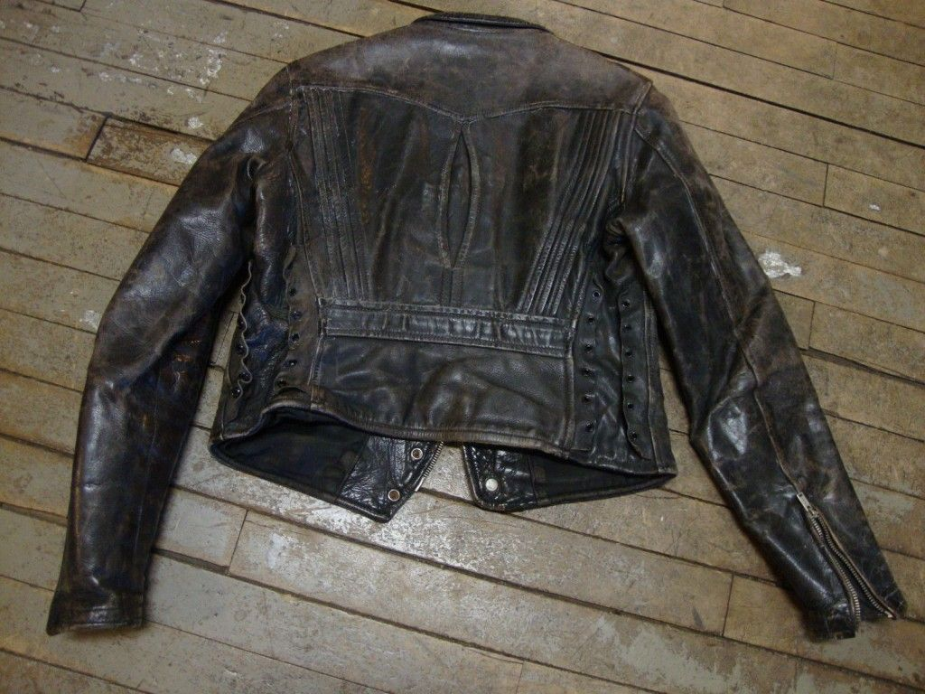Vintage Peters Leather Jacket Back
