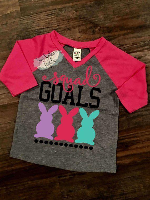 7a3d3411b Squad Goals, Chillin With My Peeps, Easter Raglan, Girls Top, Youth/Infant  Baseball Raglan T shirt,