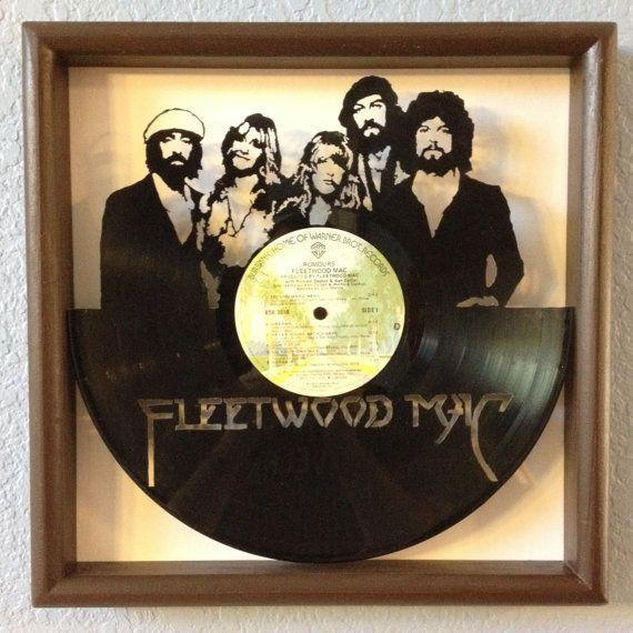 Fleetwood Mac Rumours Hand Cut Framed Vinyl Lp By