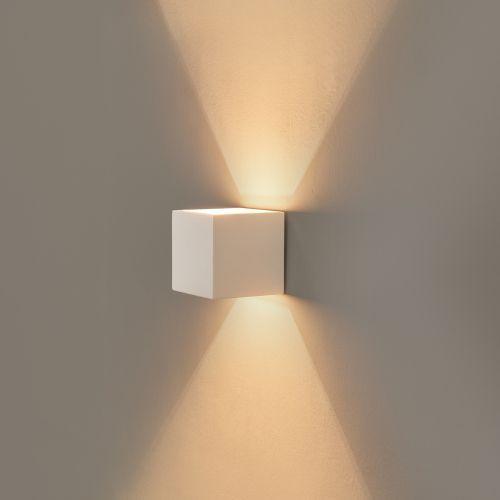 Click Licht famlights gipswandleuchte lena individuell gestaltbar 1 x g9