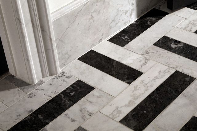 black and white marble tile floor. Black White Tile Bathroom  New House Bathroom Pinterest Floor
