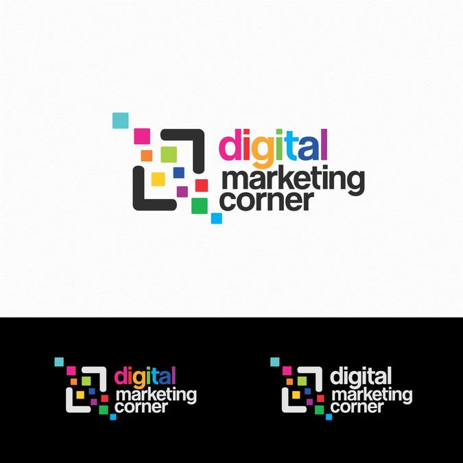 Modern Colourful Logo Design For Digital Marketing Corner By Masterpieces Colorful Logo Design Online Marketing Services Logo Design