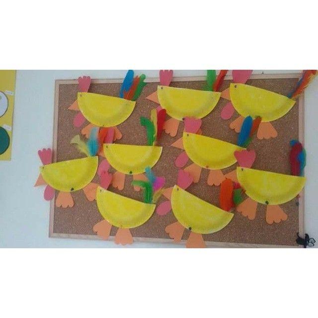 paper plate chicken craft (2)  sc 1 st  Pinterest & paper plate chicken craft (2) | Armbänder | Pinterest | Chicken ...