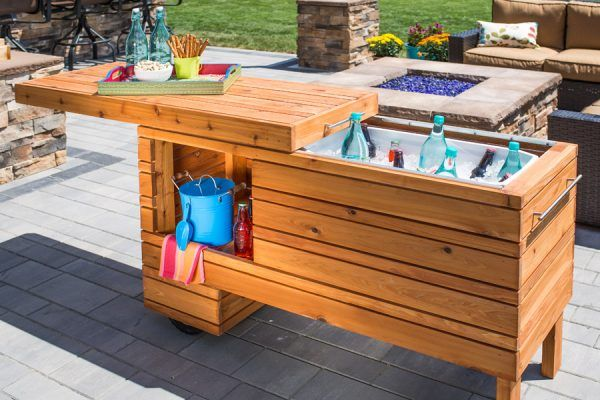 Remodelaholic Brilliant Diy Cooler Tables For The Patio With Built In Coolers Sinks And Ice Bo