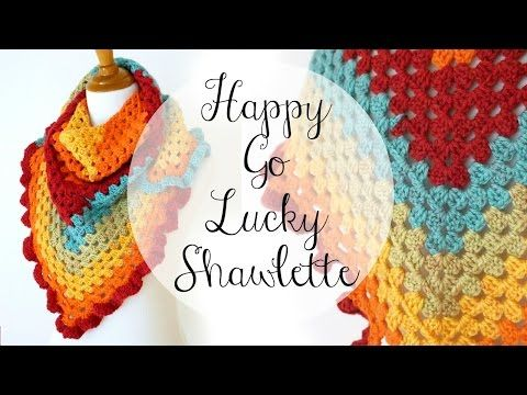 How To Crochet the Happy Go Lucky Shawlette, Episode 336 - YouTube ...