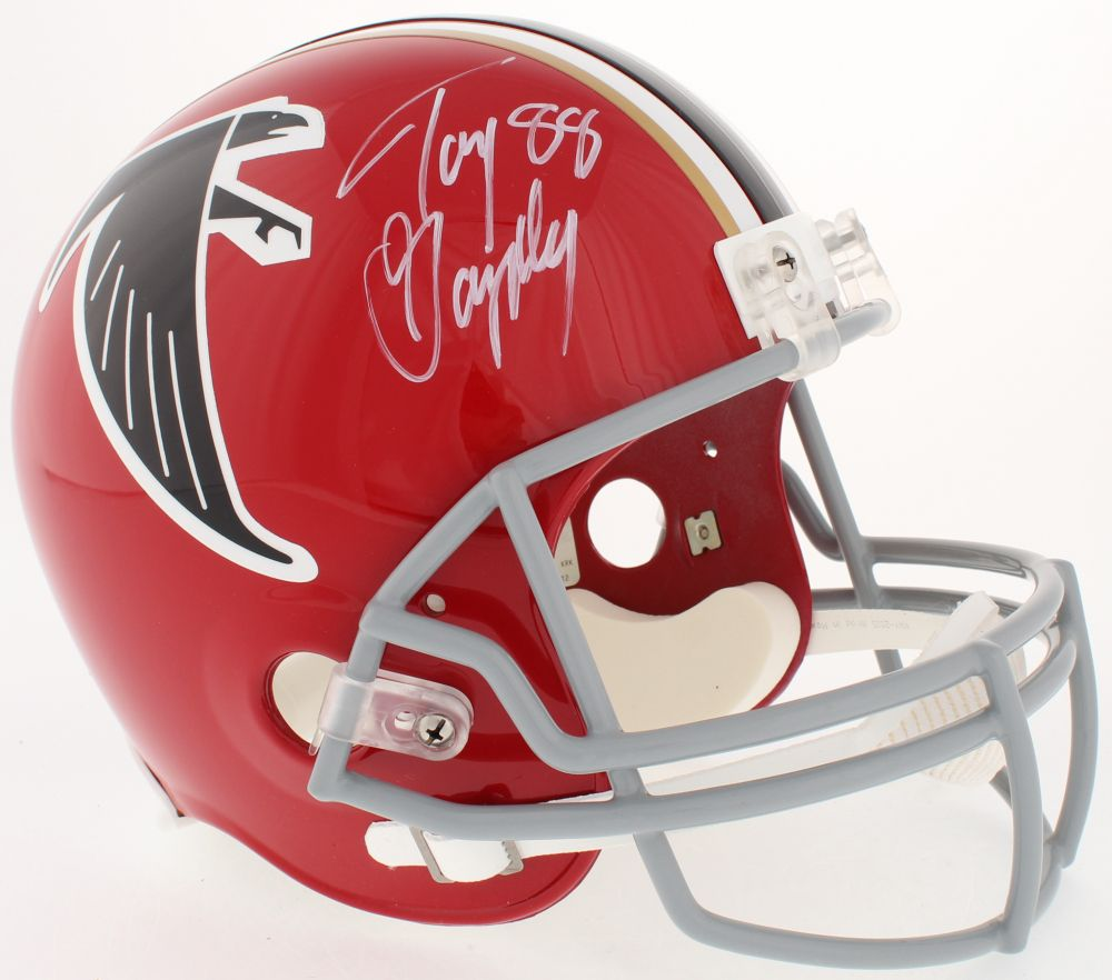 Tony Gonzalez Signed Falcons Full Size Helmet Radtke Coa Atlanta Falcons Helmet Falcons Helmet Football Helmets
