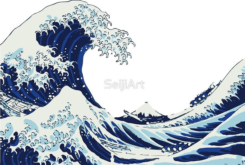 'The Big Wave' Art Print by SeijiArt Wave art, Wave