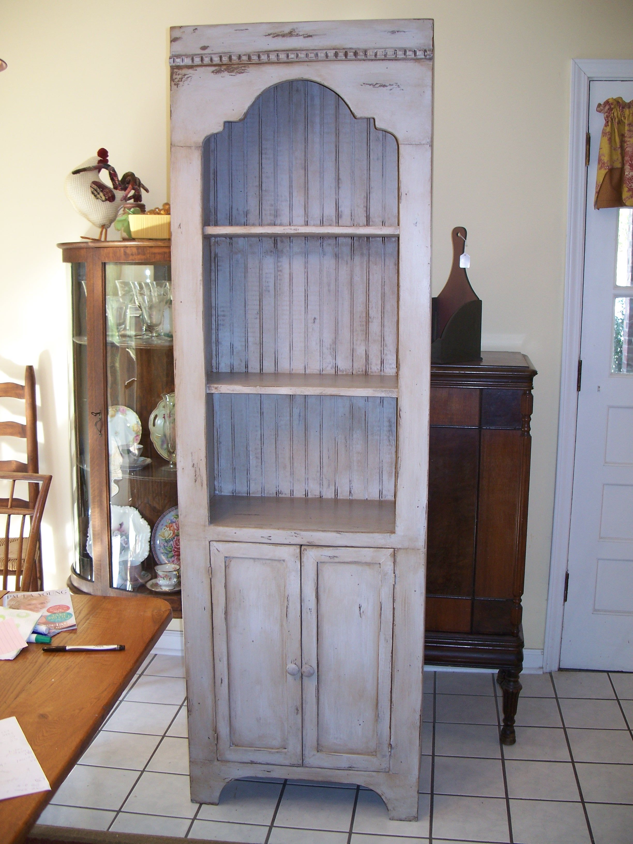 Best Distressed Gray Cabinet My Husband Built And I Painted For 640 x 480