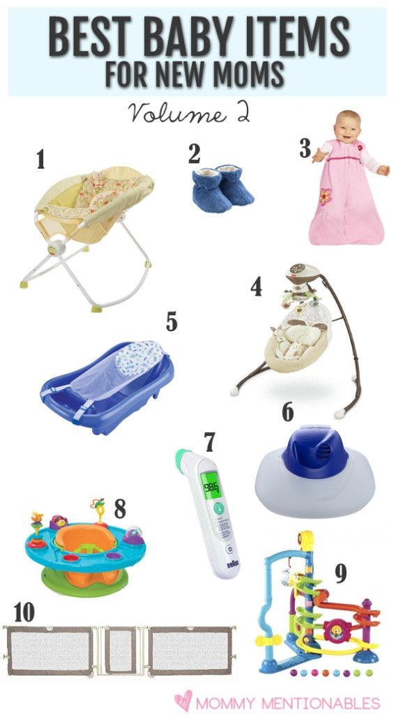 Get a list of the Top 10 Baby Products New Moms Must Have. #newmoms #bestbabyproducts #baby