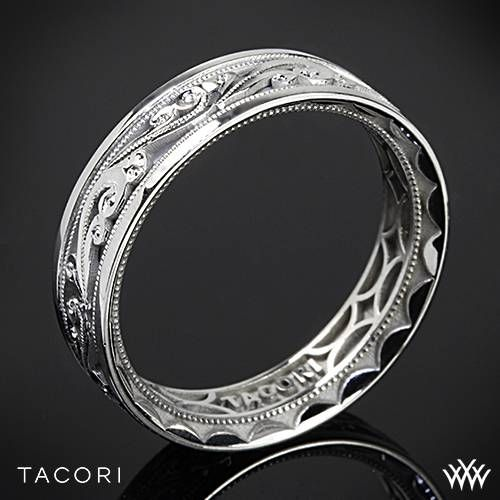 From this day forward, Tacori has officially changed the way men are dressing! White Gold Tacori Sculpted Crescent Eternity Wedding Ring