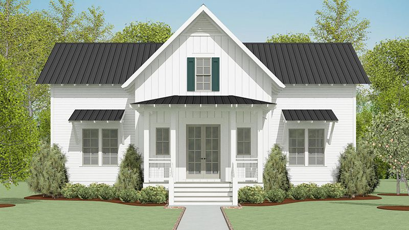 Evergreen Cottage Southern Living House Plans In 2021 Country Cottage House Plans Southern Living House Plans Cottage House Plans
