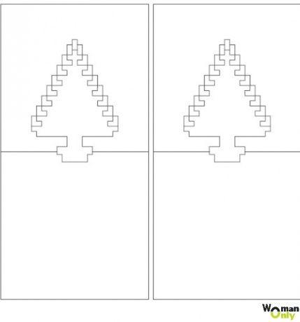 Tarjetas Kirigami para principiantes - esquemas y plantillas ...