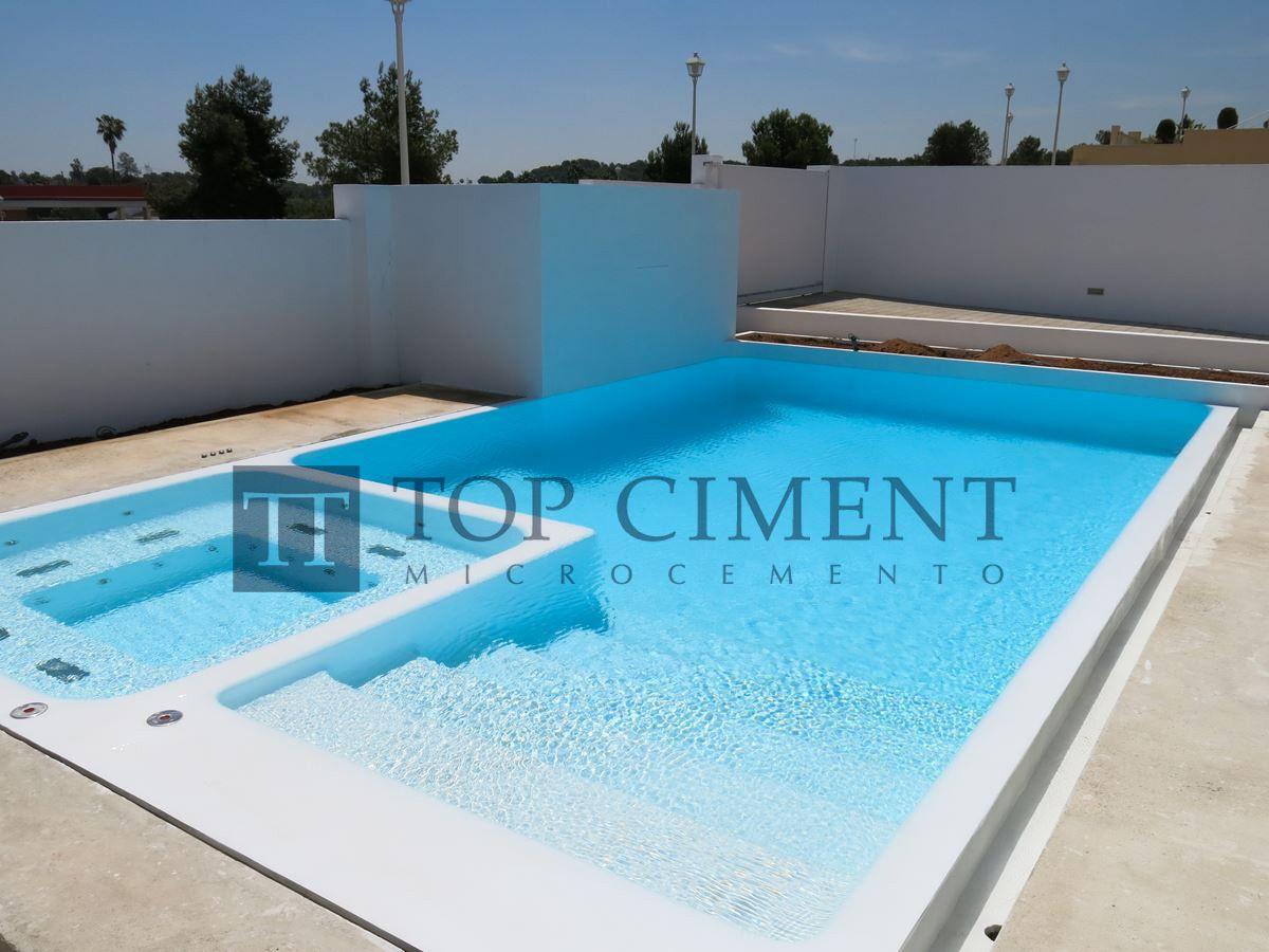 Es el resultado de esta piscina blanca de microcemento - Microcemento para piscinas ...