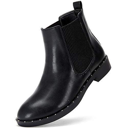 2573f2d5c9b184 Damen Stiefeletten Chelsea Boots mit Blockabsatz Profilsohle Flandell    Bestseller Produkte