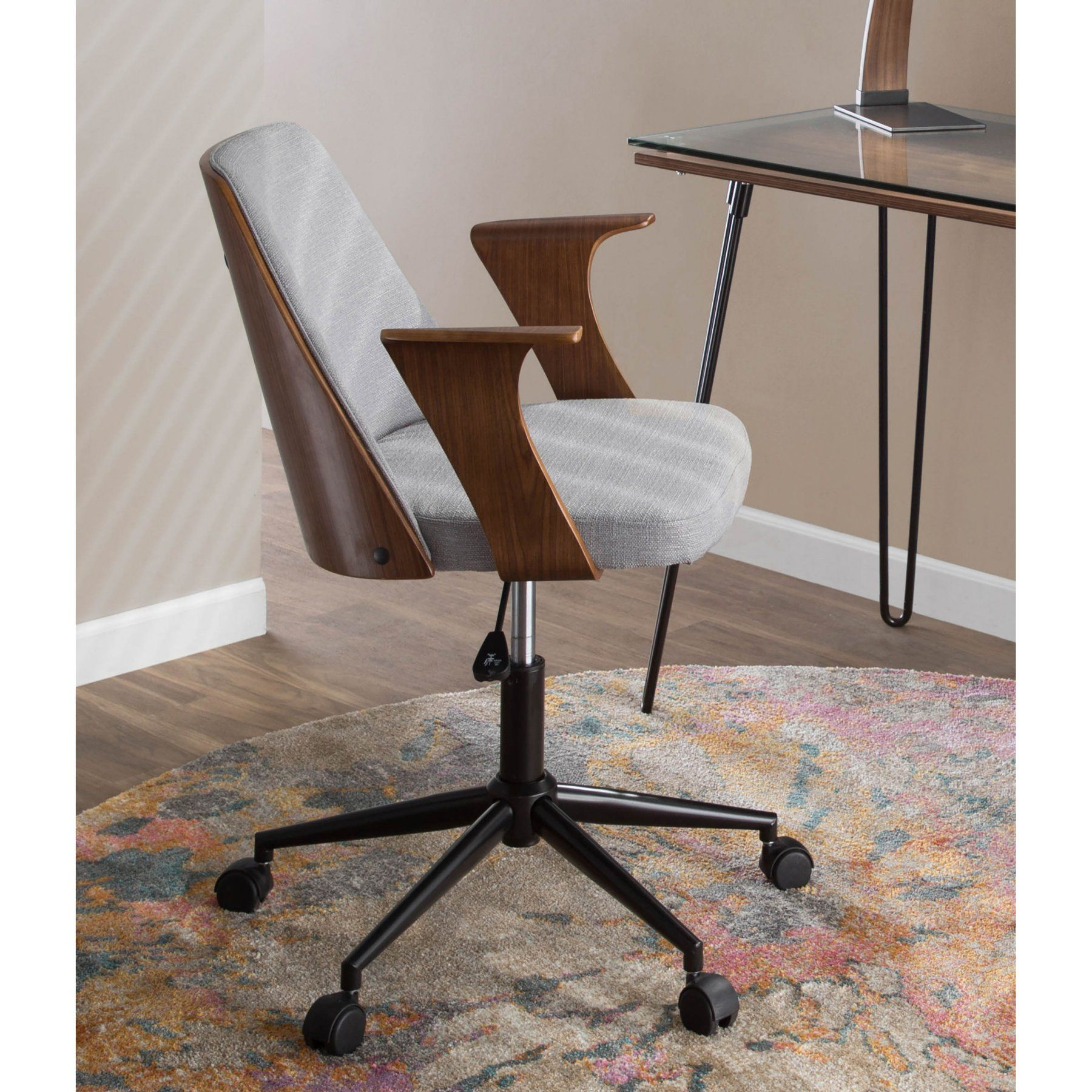 Lumisource Verdana Adjustable Fabric Office Chair  Oc Vrdna Wl+Gy