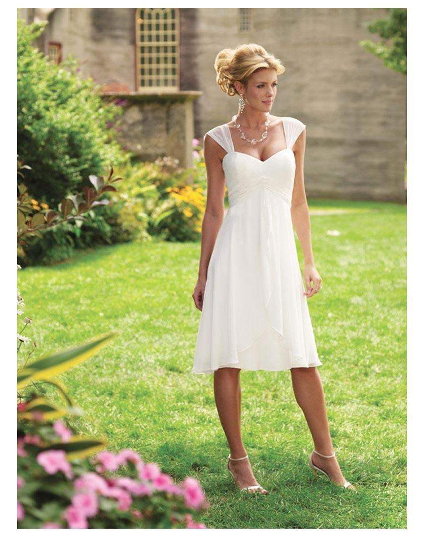 Robe mousseline blanche courte