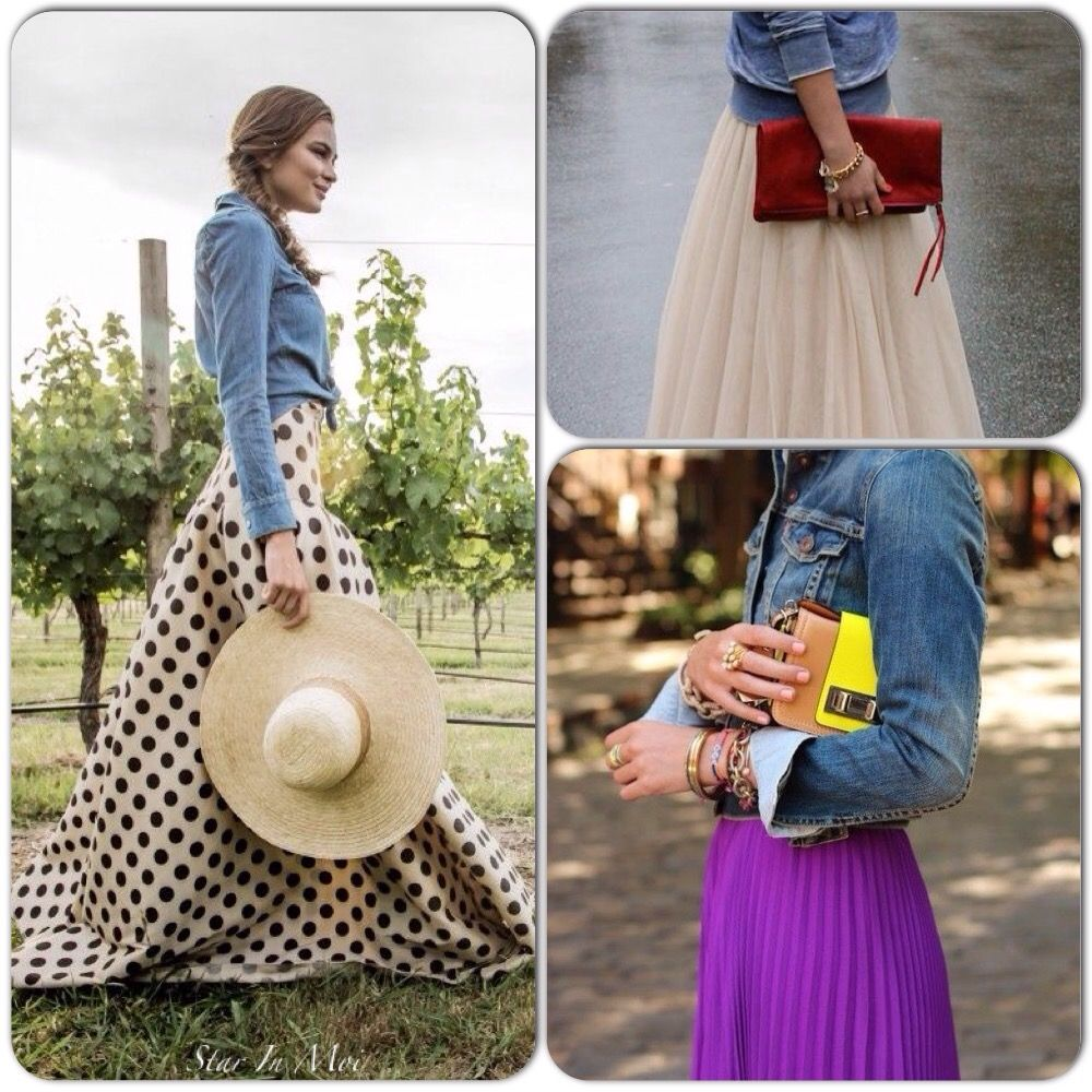 Street Style: Denim Jacket & Maxi Dress! On the blog www.starinmoi.com Star In Moi | Bring out the star in YOU!