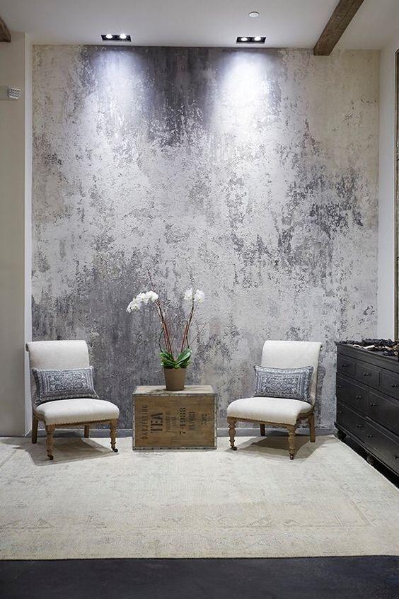 ae363484ca8896679b39ca8b7edb15bf pared salón Pinterest - paredes de cemento