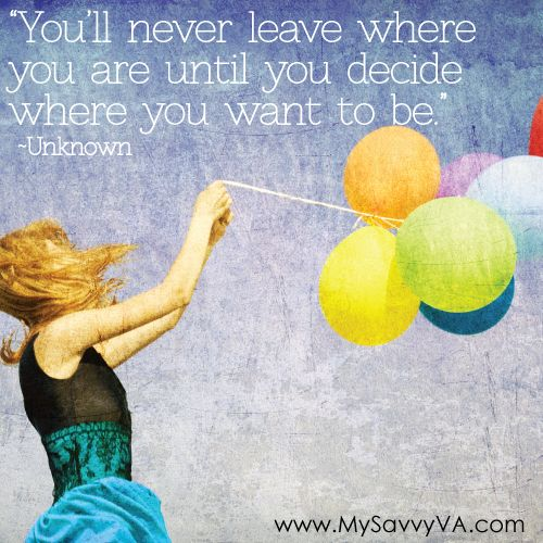Decide where you want to be...