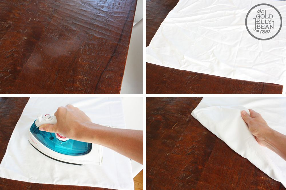 Remove Water Marks From Wood With An Iron I Just Did This
