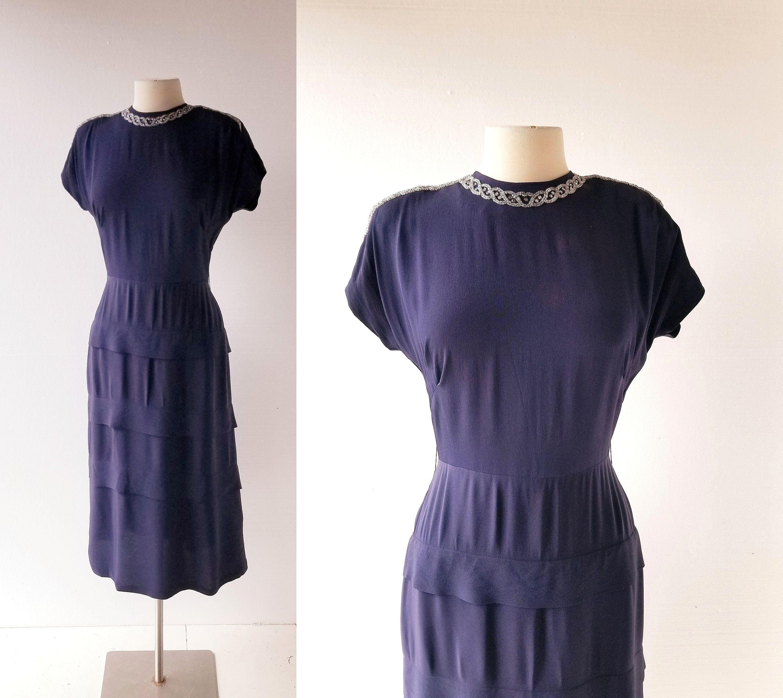 1940s Cocktail Dress Saboteur 40s Dress Xs S Dresses 40s Dress Dresses Xs [ 2671 x 3000 Pixel ]