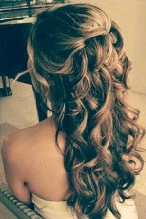 35 Prom Hairstyles for Curly Hair  hair  Pinterest  Long