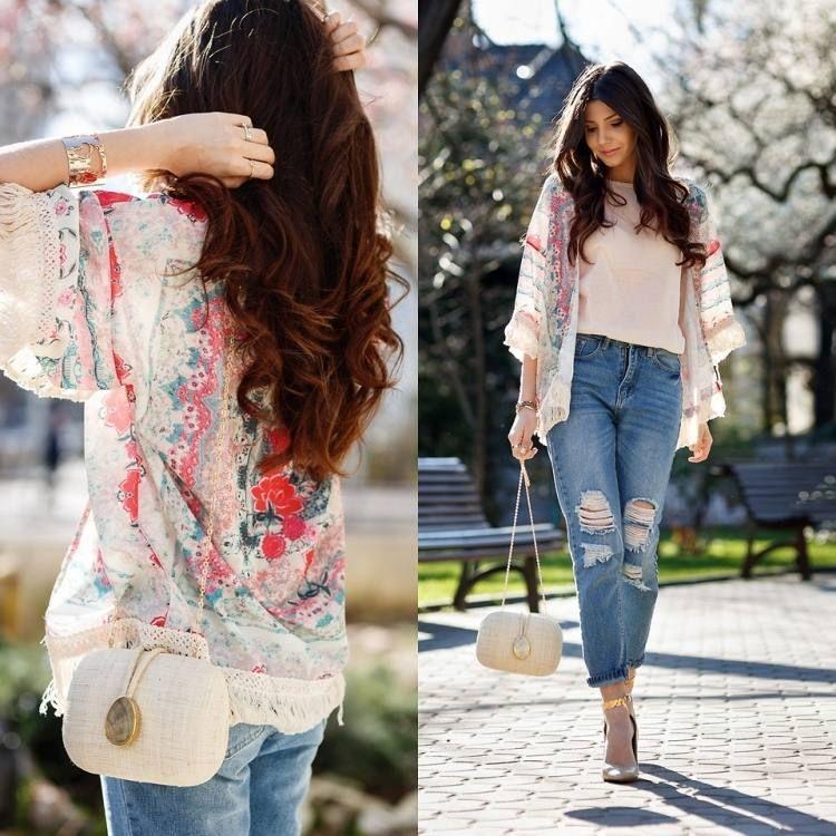mittellange Kimono-Jacke mit Jans kombiniert | Nähen - Kleidung ...