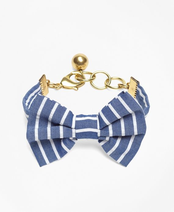 Bracelet, made from cotton. Solid brass hardware. Made in the USA.