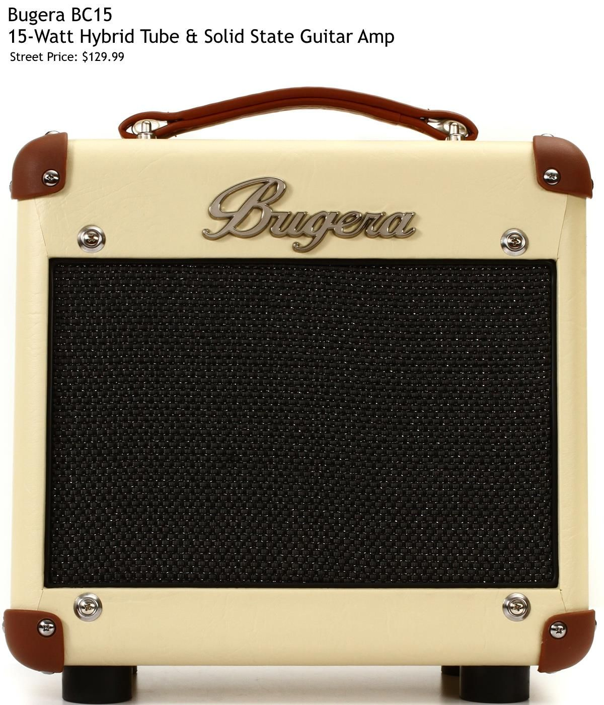 Bugera Bc15 Features 15w Hybrid Amp 8 Speaker Preamp Tube 12ax7 2 Band Eq Inputs 2 X 1 4 Weight 12 Guitar Amp Acoustic Guitar Amp Guitar Rig