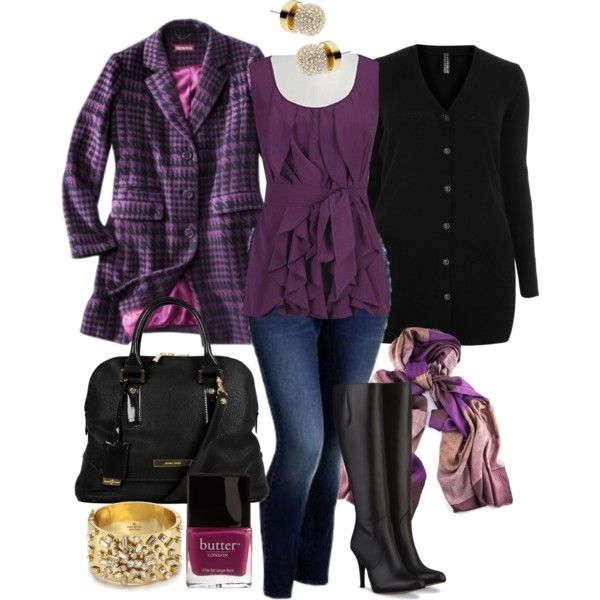 """""""Purple Layers - Plus Size"""" by alexawebb on Polyvore"""