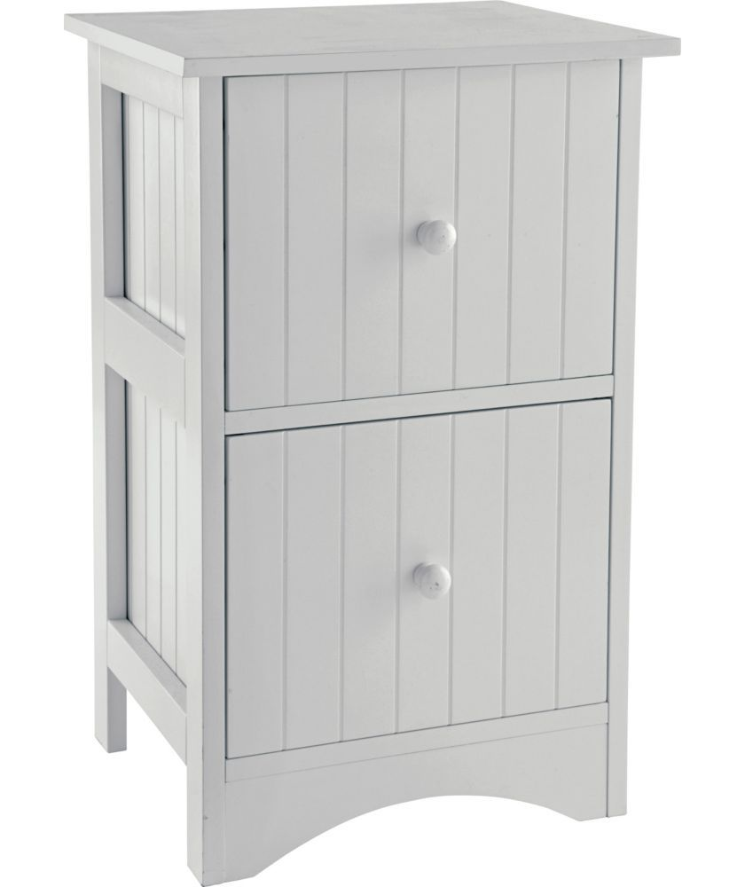 Buy Tongue And Groove 2 Drawer Storage Unit White At Your Online Shop For