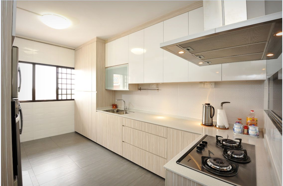 All white industrial kitchen hdb google search kitchen pinterest industrial kitchens Kitchen design in hdb
