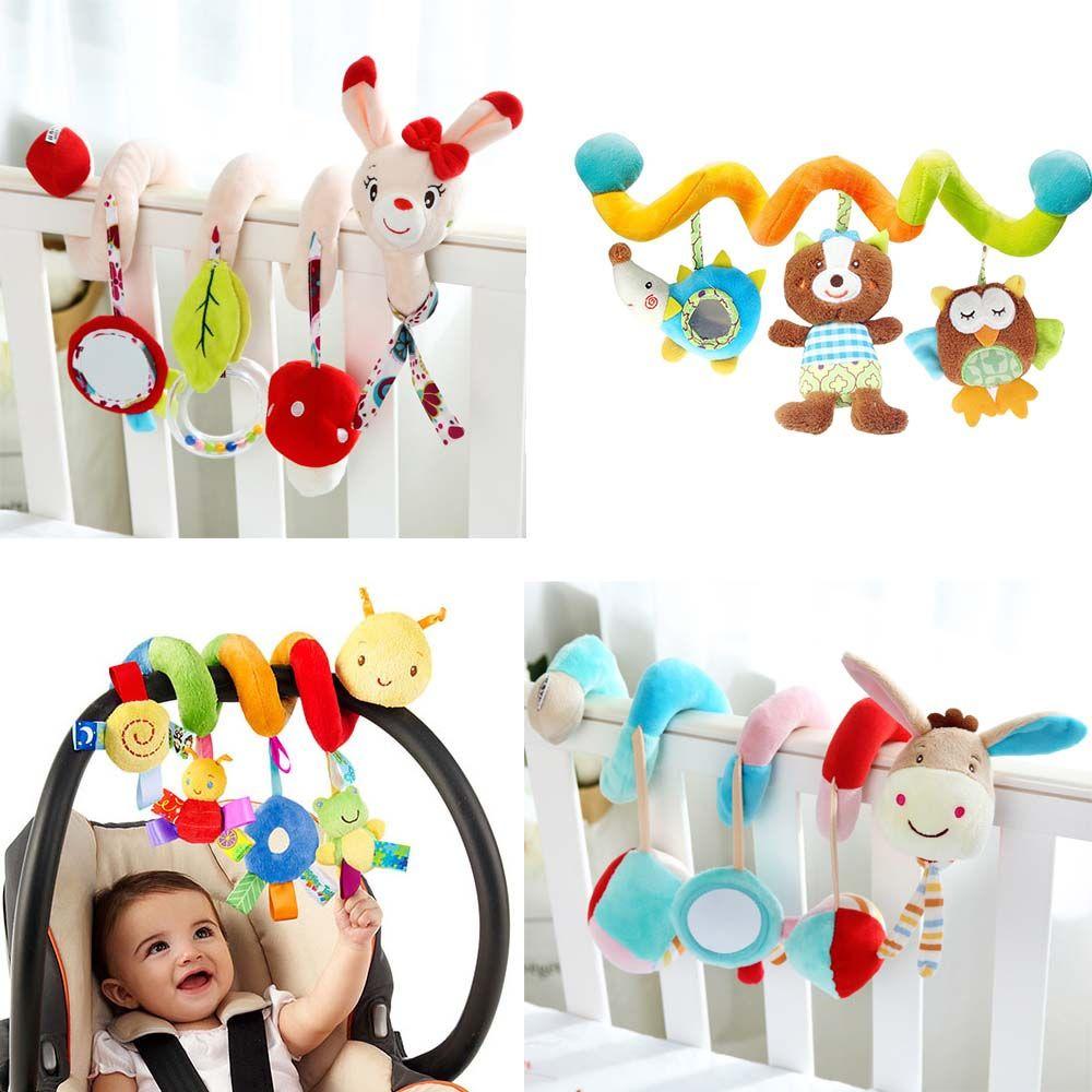 Newborn Infant Pram Handbell Bed Stroller Soft Hanging Toys Animal Rattle 6A