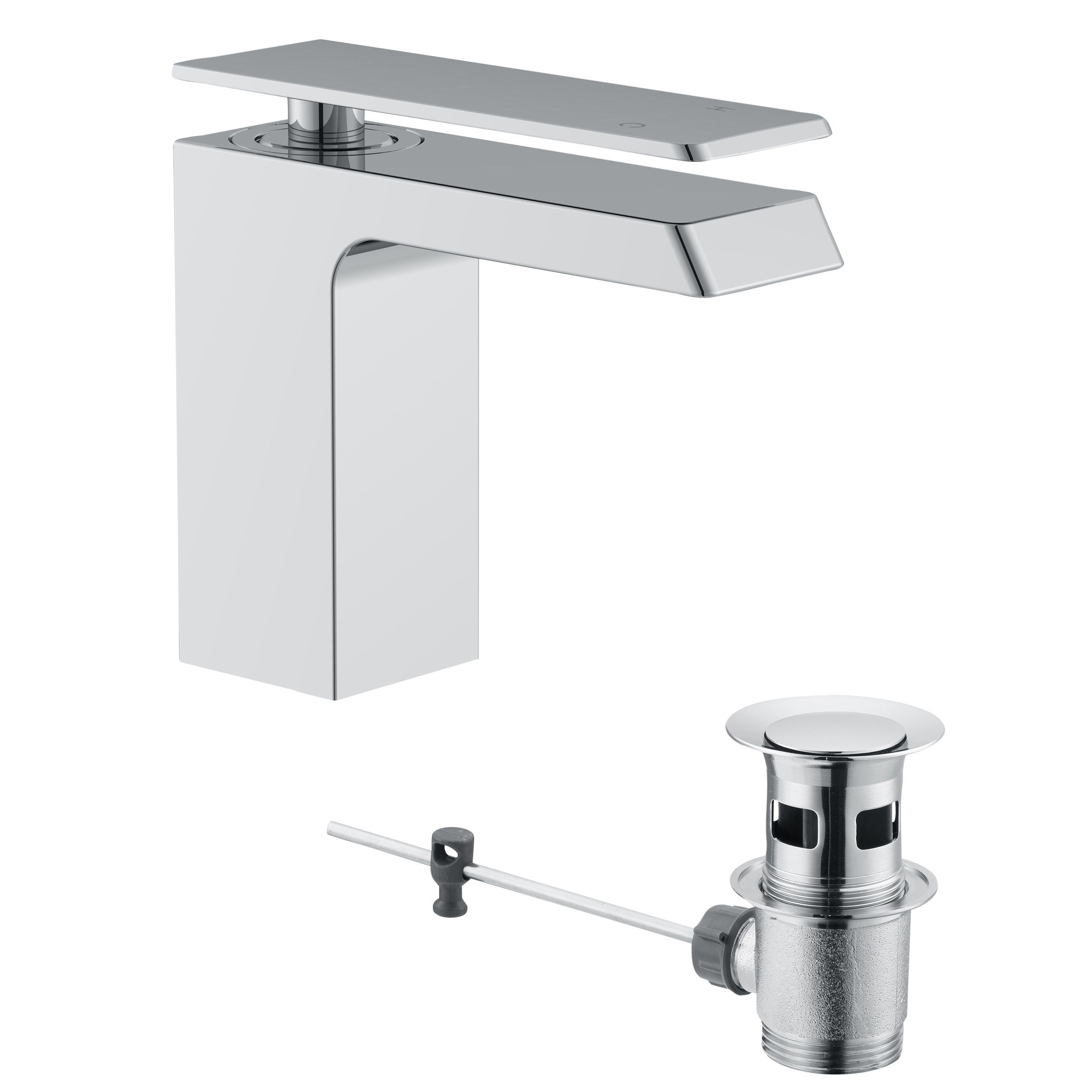 Cooke Lewis Harlyn 1 Lever Basin Mixer Tap Departments Diy At B Q Basin Mixer Taps Basin Mixer Basin