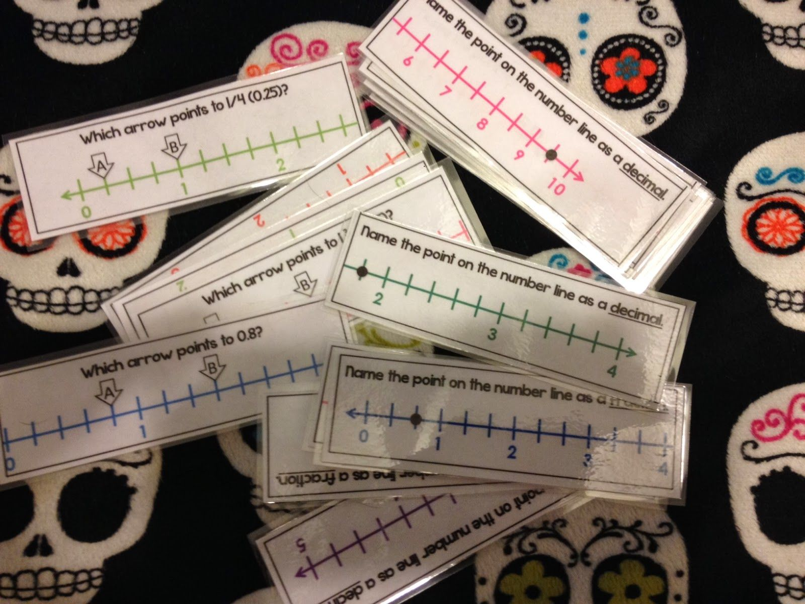 Fraction And Decimal Number Line Task Cards So Great With Kagan Quiz Quiz Trade Model