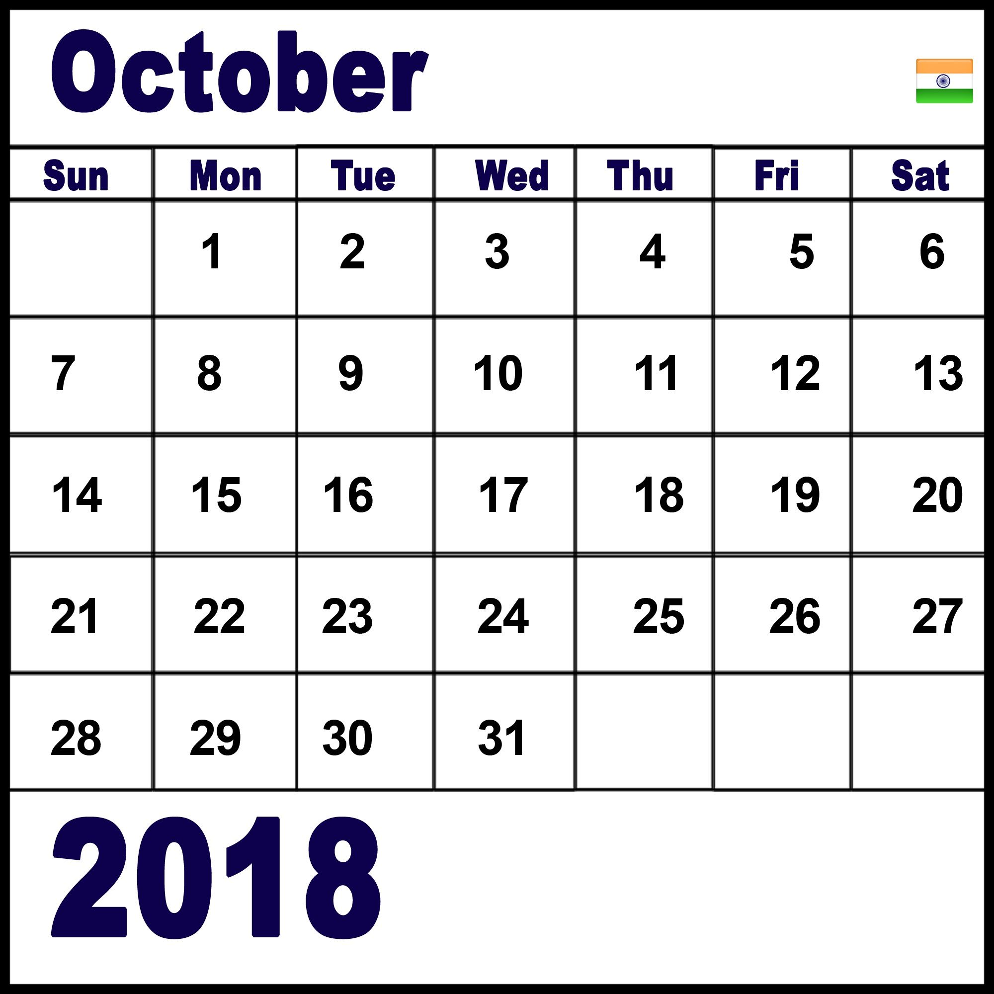 october 2018 calendar india it is easy to find out online for monthly and yearly timetable planner it is extremely hard to get a duplicate of these