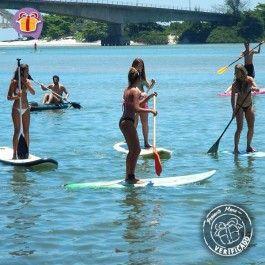 Stand Up Paddle (SUP) em Restinga de Marambaia é um presente divertido para relaxar e se exercitar ao ar livre.