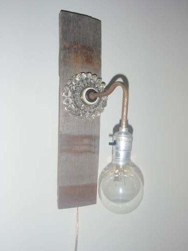 Anthropologie Inspired upcycled vintage wall sconce with ... on Sconces No Electric Plug id=39333